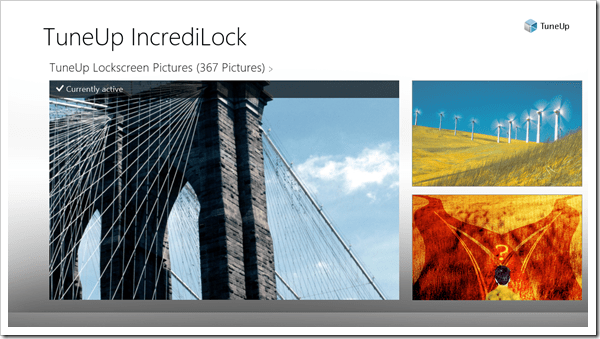 Windows 8 App - TuneUp IncrediLock