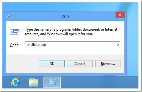 Windows 8 - Shell startup