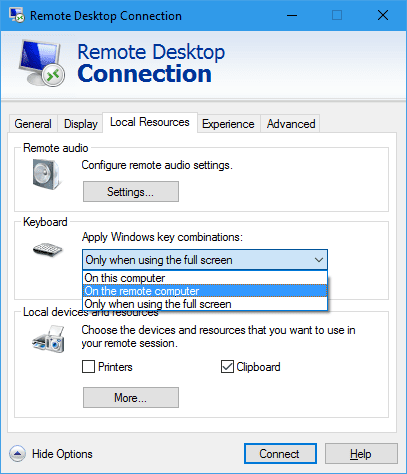 How To Use The Same Keyboard Combinations On Remote Desktop Next