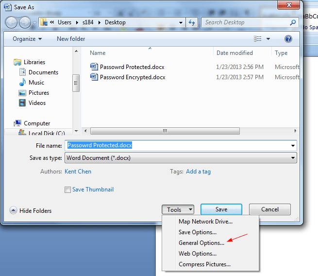 how to set password in word document in office 2007