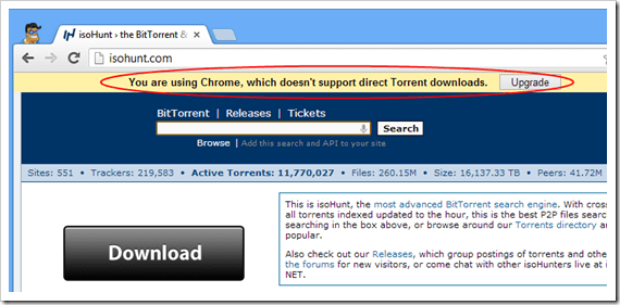 Chrome Doesn't Support Direct Torrent Download