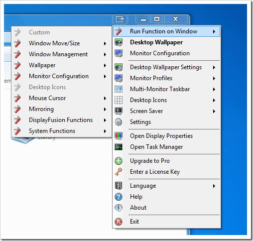 DisplayFusion - titlebar right-click menu