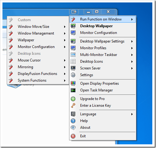 DisplayFusion - titlebar right-click menu