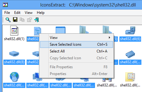 IconsExtract - Save icons
