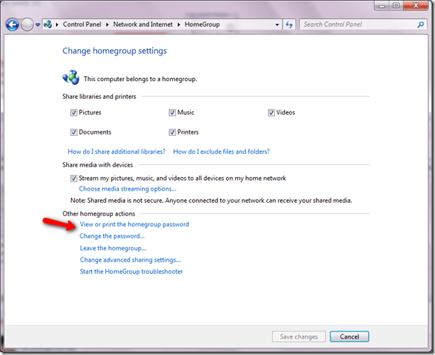 win7 change network password