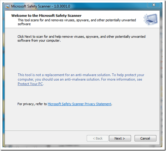 Microsoft Safety Scanner is A Portable Free Virus Scanning Program