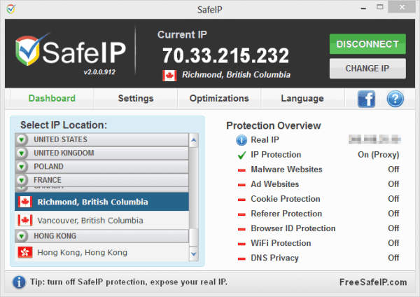 SafeIP - Connected
