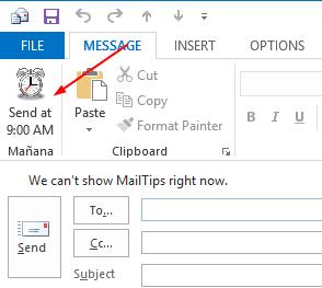 Mañana Mail - send button