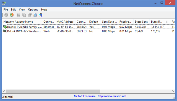 NetConnectChoose