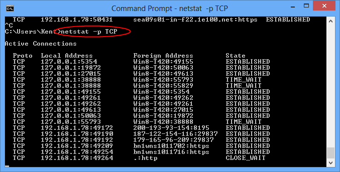 netstat command Netstat - print network connections, routing tables, interface statistics, masquerade connections, and multicast memberships  command files.