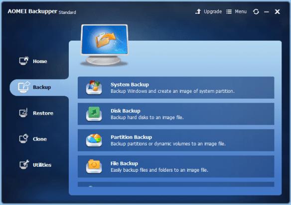 AOMEI Backupper - Backup