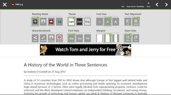 Readily - reading options with integration of Instapaper and Pocket