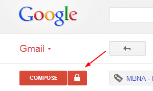 Secure Gmail - Lock icon