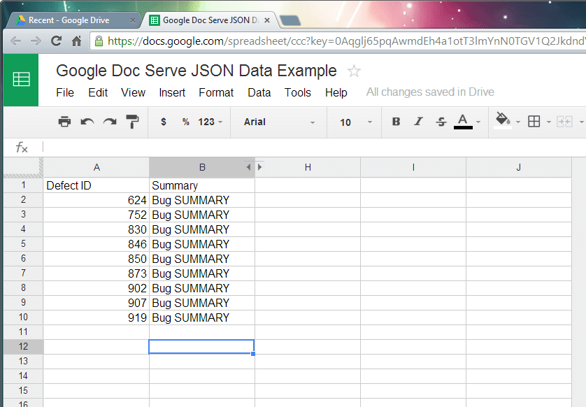 How To Use Google Doc Serve JSON From Excel Spreadsheet - Next of