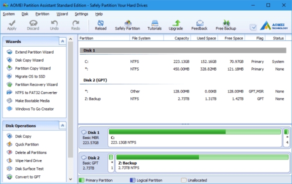 AOMEI Partition Assistant Standard Edition - Safely Partition Your Hard Drives