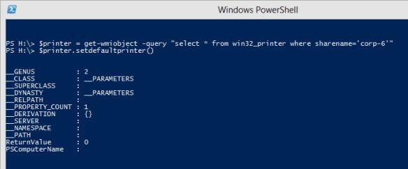 PowerShell - set default printer