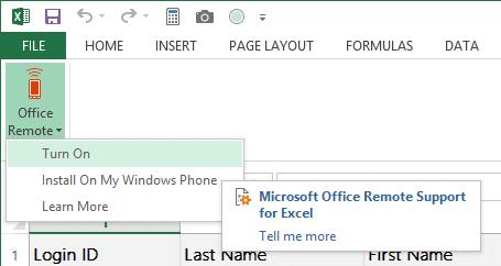 Office Remote - desktop plugin