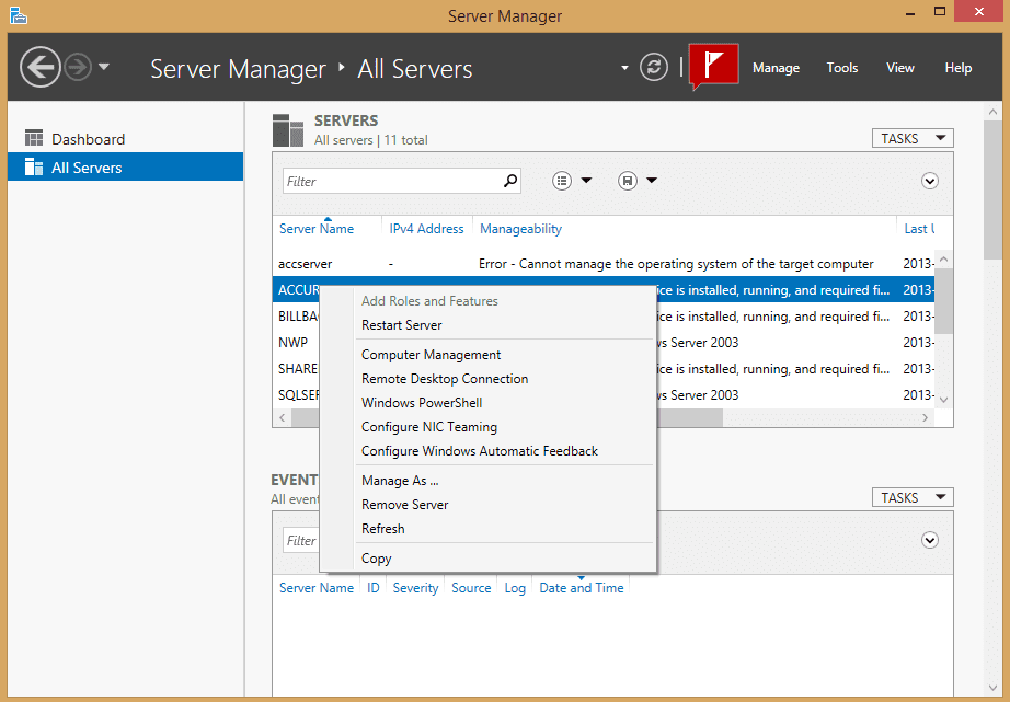 Remote Manage Your Servers on Windows 8 1 with Remote Server