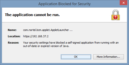 Java Application Blocked By Security Settings, What To Do? - Next of