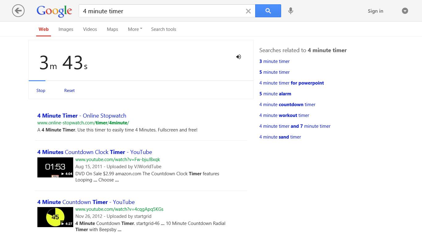 15 minute timer google