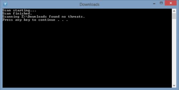 Scan folder in Windows Defender