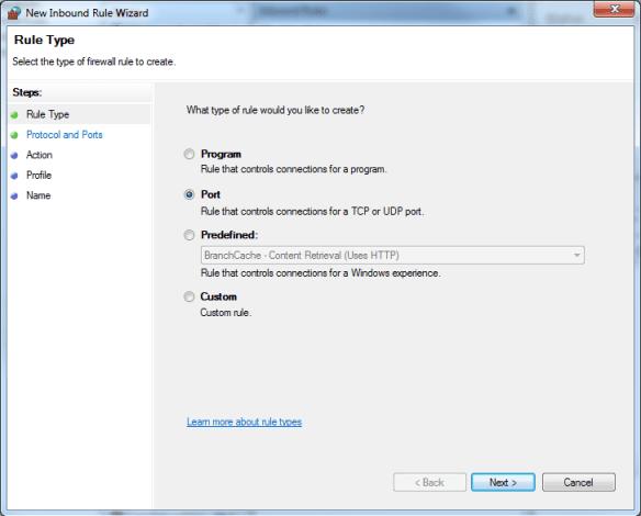Windows Firewall Inbound Rules