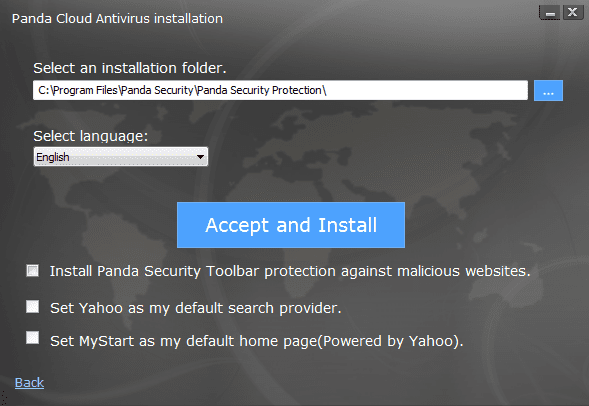 Panda Cloud Antivirus - installation