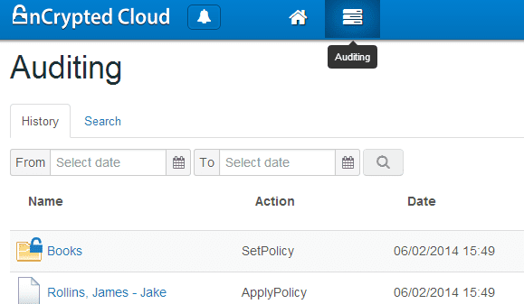 nCrypted Cloud - Cloud Portal auditing
