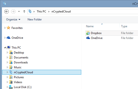 nCryptedCloud -Folder Structure