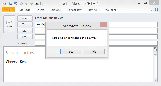 How To Get A Forgotten Attachment Reminder in Outlook - Next of Windows