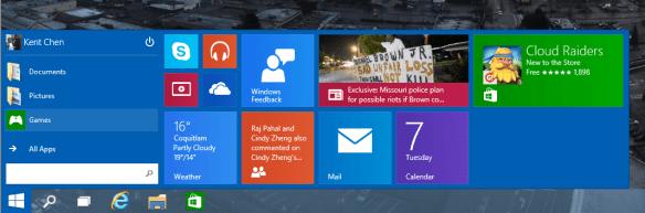 Windows 10 - Start Menu - resized