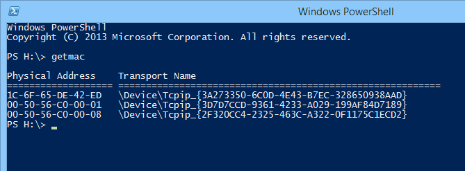 Getting MAC Addresses and Their Vendor Name in PowerShell