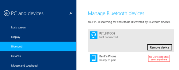 PC Settings - Bluetooth