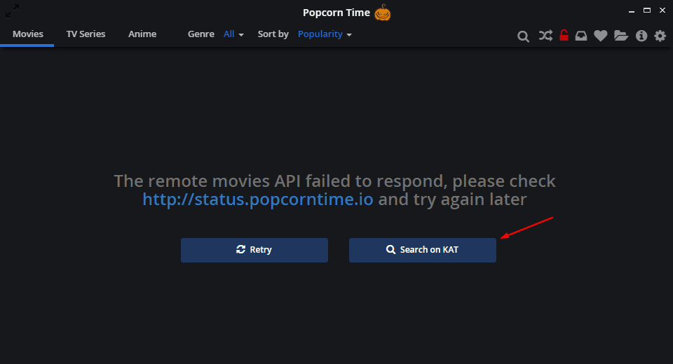 kat search not working