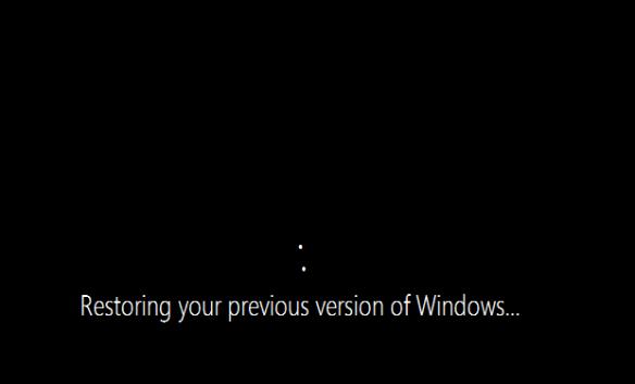 Windows 10 TP - Rollback