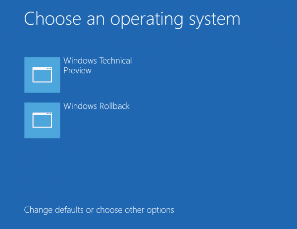 Windows 10 TP - roll back option