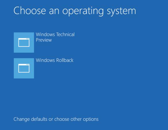 Windows 10 TP - roll back option
