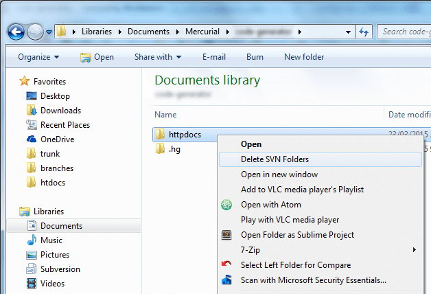 Three Ways to Recurrently Delete  svn in Windows - Next of