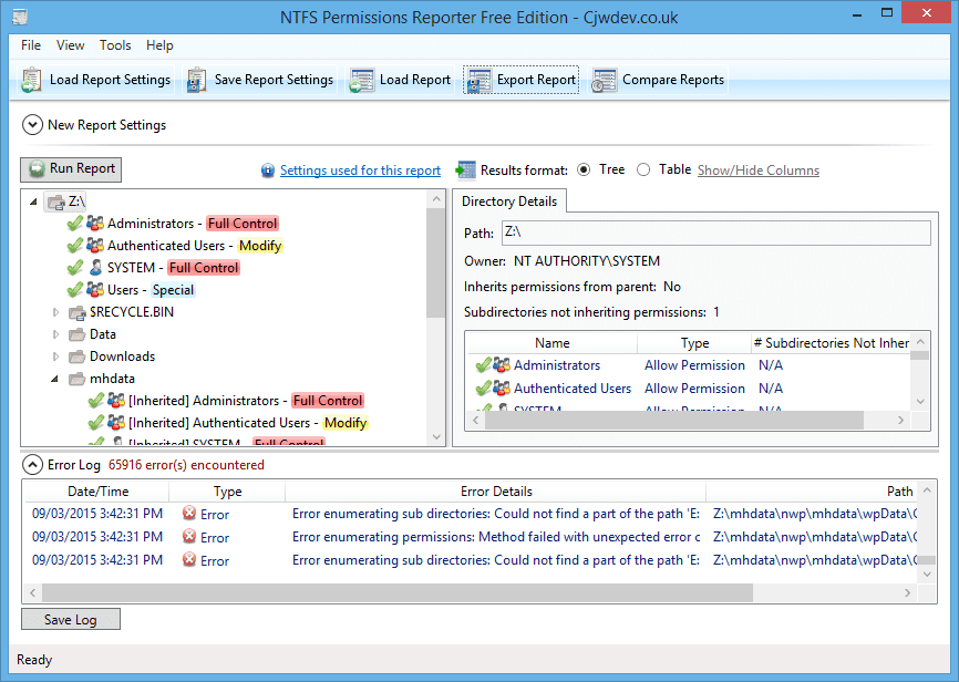 A Free Powerful NTFS Permissions Reporter - Next of Windows