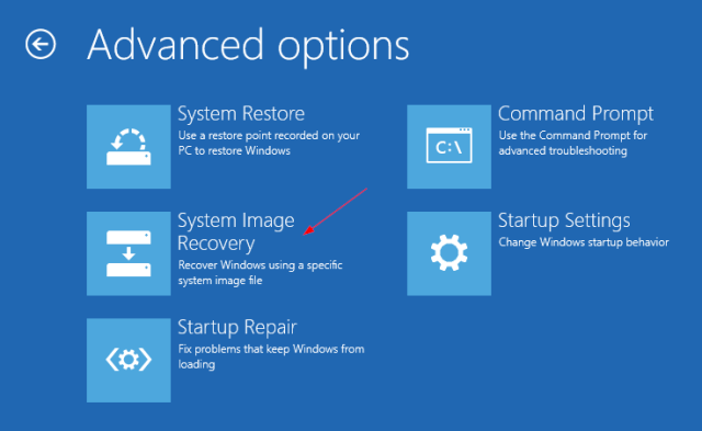 Windows 10 - Advanced Options