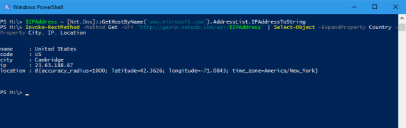 powershell-ip-geolocation-with-nekudo-from-a-hostname