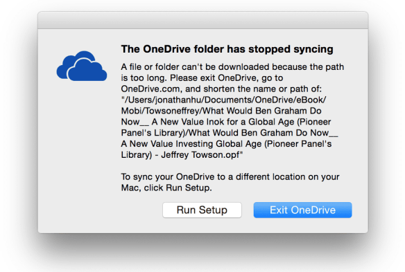 OneDrive Troubleshoot Can't Start Mac OS X