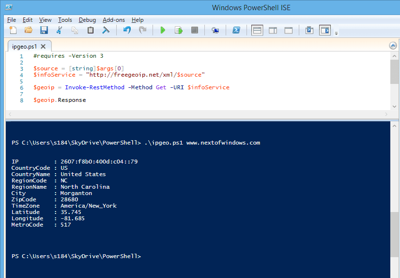Powershell get ip address from computer name