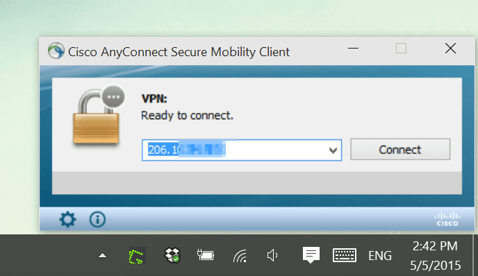 Cisco anyconnect vpn problem