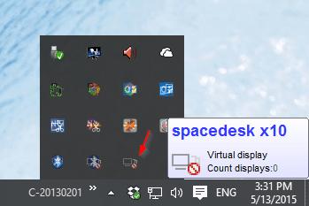 SpaceDesk - server