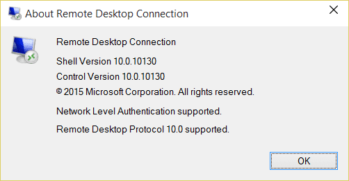 Zoom Option in Remote Desktop Protocol 10 - Next of Windows