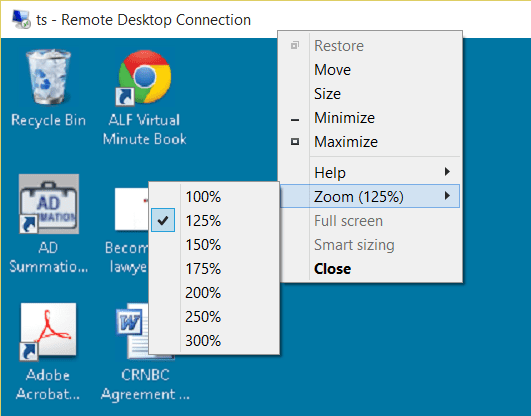 Citaten Zoon Win 10 : Zoom option in rdp and how to use it next of windows
