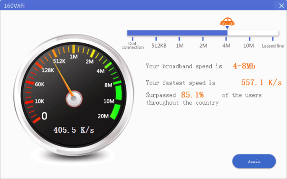 160WiFi - speed test