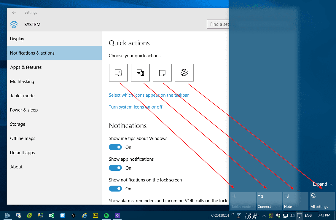 Windows 10: How To Set Up Quick Action Buttons in Action Center