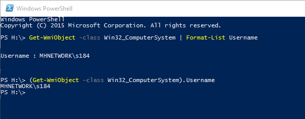 PowerShell - get local login user